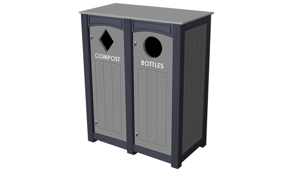 EasyCare Double 12 Gallon Recycling Bin