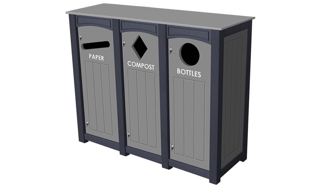 EasyCare Triple 12 Gallon Recycling Bin