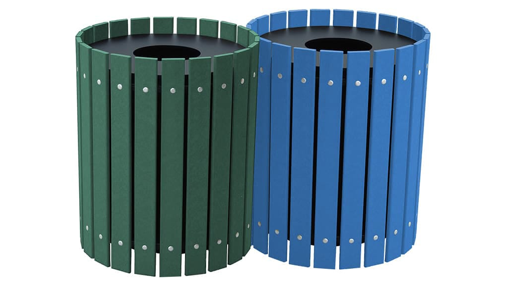EasyCare Double 20 Gallon Round Recycling Bin