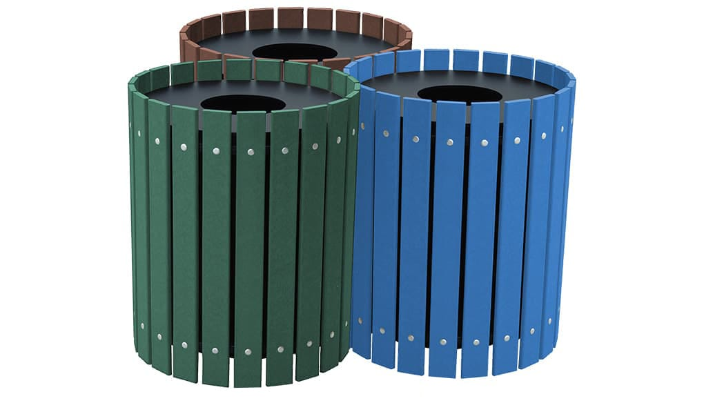 EasyCare Triple 20 Gallon Round Recycling Bin