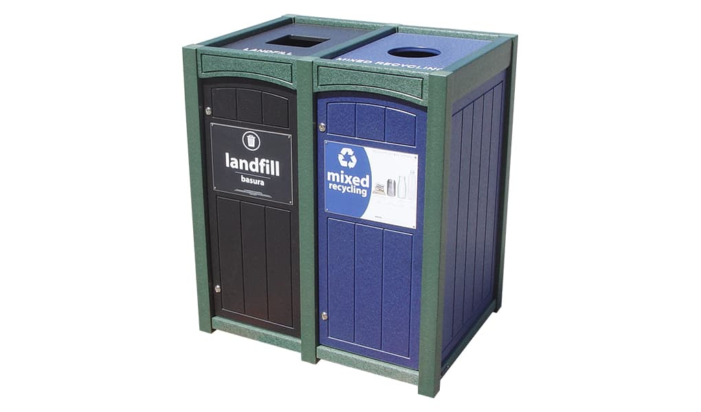 EasyCare Double 23 Gallon Recycling Bin