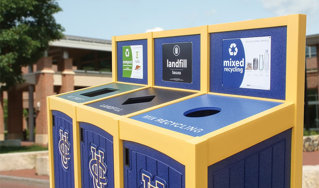 EasyCare Triple Recycling Bin
