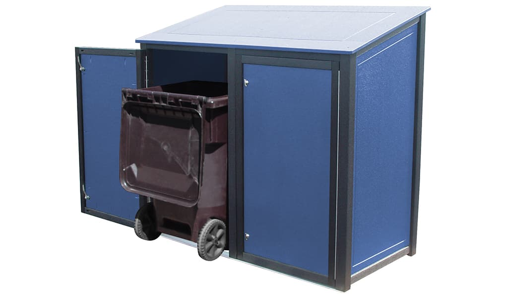 EasyCare Double 32 Gallon Roll Cart Recycling Bin