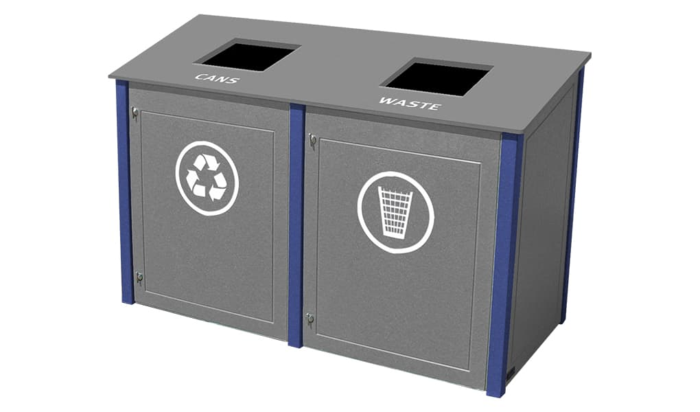 EasyCare Double 40 Gallon Recycling Bin