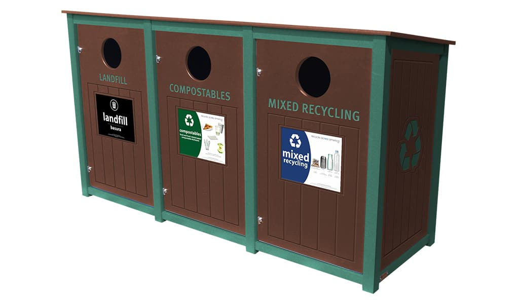 EasyCare Triple 40 Gallon Recycling Bin