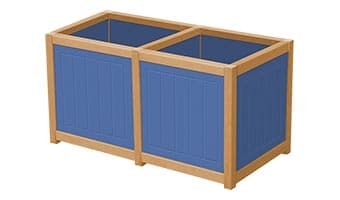 EasyCare Spruce Double Planter Box