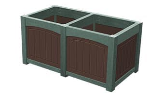 EasyCare Emerald Double Planter Box
