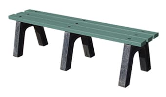 EasyCare Backless Park Bench