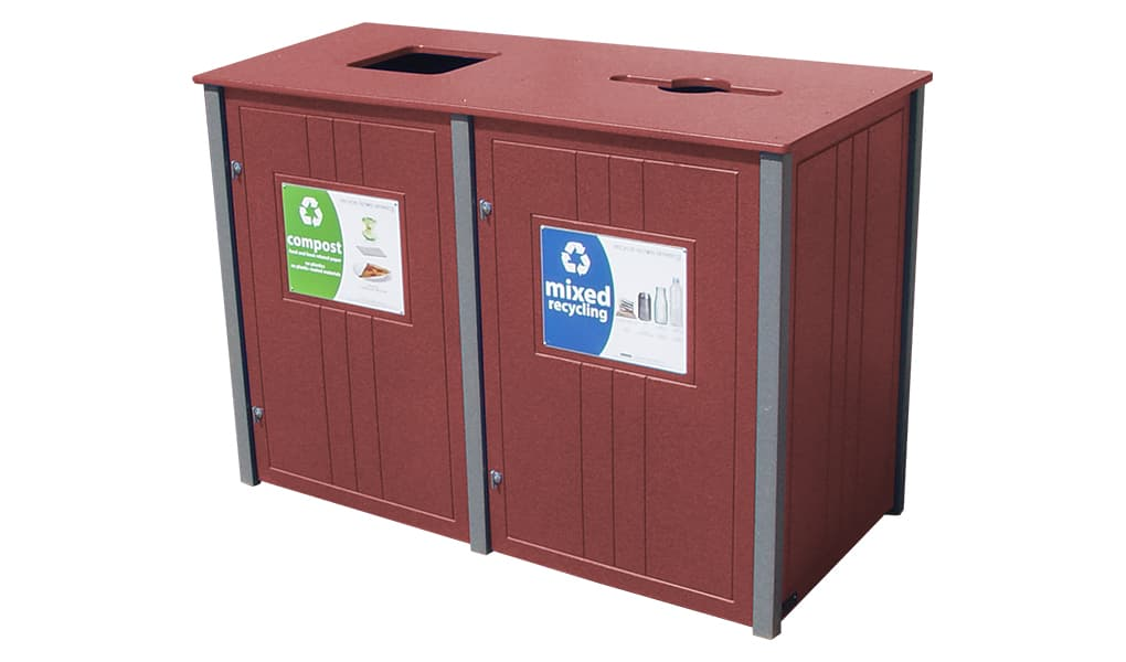 EasyCare Double 55 Gallon Recycling Bin
