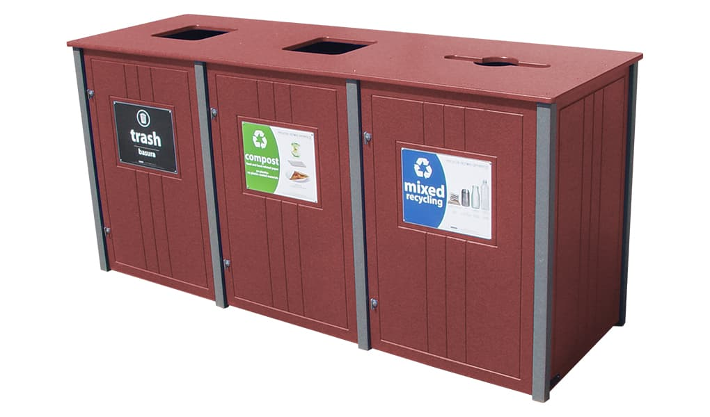 EasyCare Triple 55 Gallon Recycling Bin