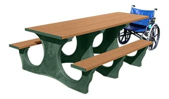 6-Foot Easy Access ADA Accessible Picnic Table