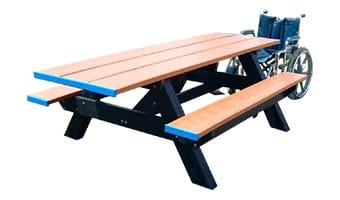 6-Foot Standard Double ADA Accessible Picnic Table