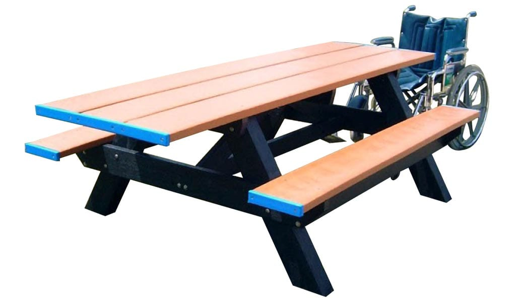 6-Ft Standard ADA Double Picnic Table