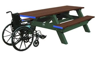 6-Foot Standard ADA Accessible Picnic Table