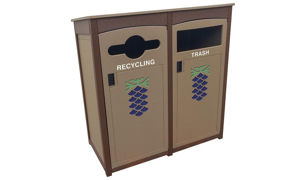 EasyCare Canopy Double Recycling Bin