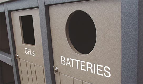 custom add-on options for E-Waste Bins