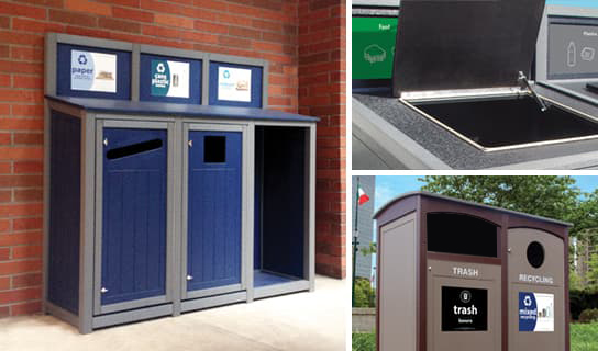 custom add-on options for Recycling Bins