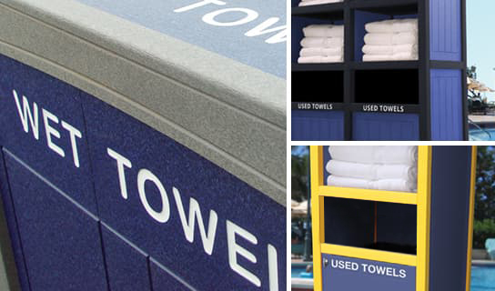 custom add-on options for Towel Stations