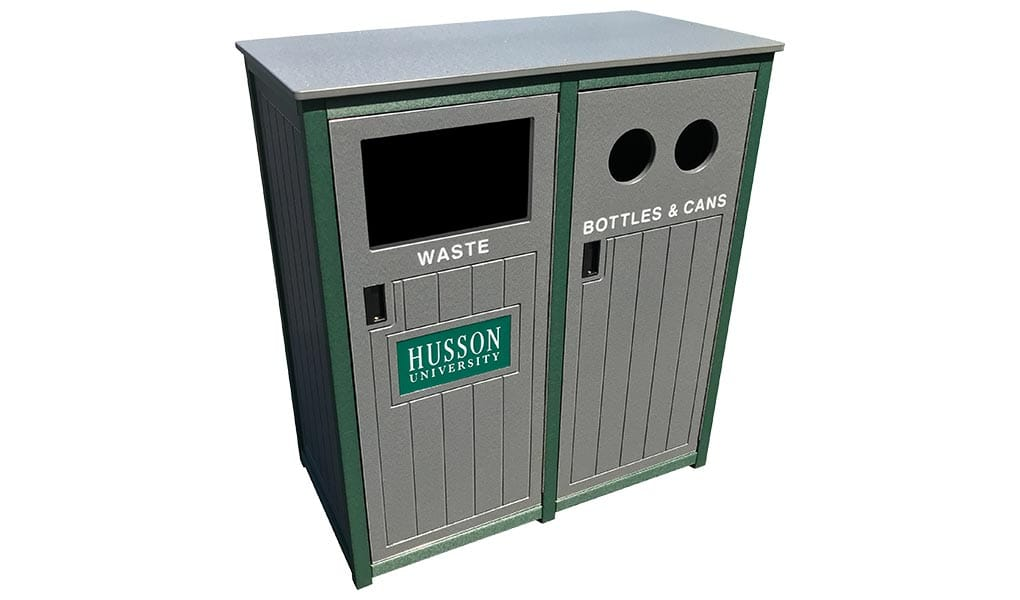 EasyCare Front Load Double Recycling Bin