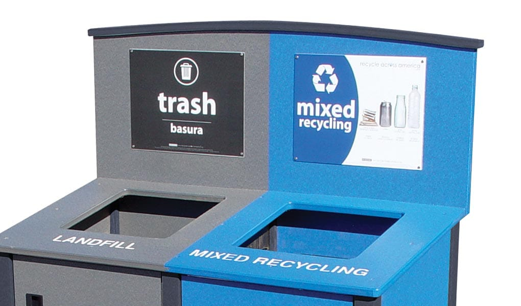 Recycle Across America Labels on Header Display