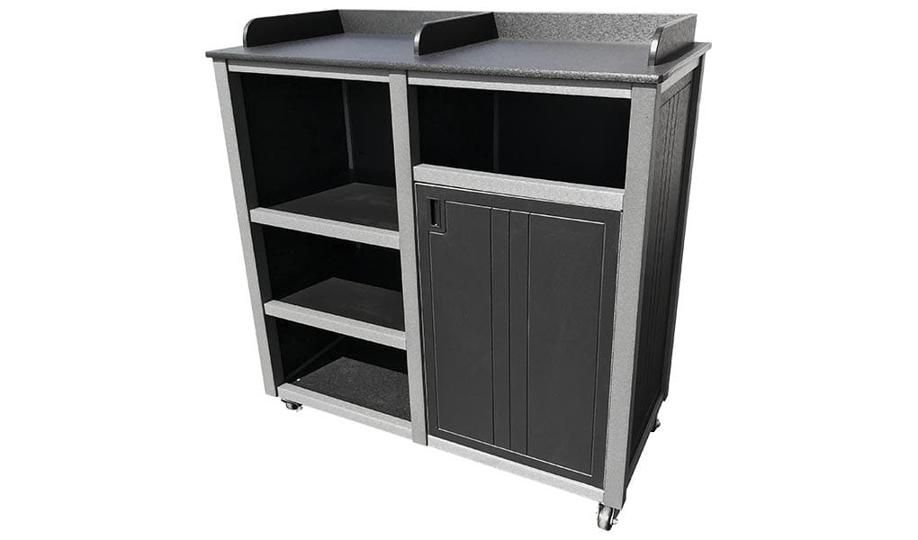 EasyCare Bussing Station with tray dividers